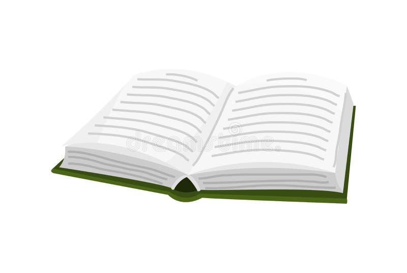 Open boek voor Minnaar van literatuur Encyclopedie?n voor lezing Omgekeerde pagina's Voorwerp in eigentijdse stijl Vector vector illustratie