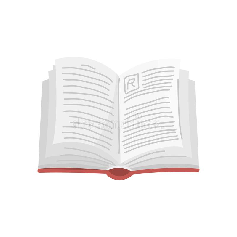 Open boek voor Minnaar van literatuur Encyclopedie?n voor lezing Omgekeerde pagina's Voorwerp in eigentijdse stijl Vector stock illustratie