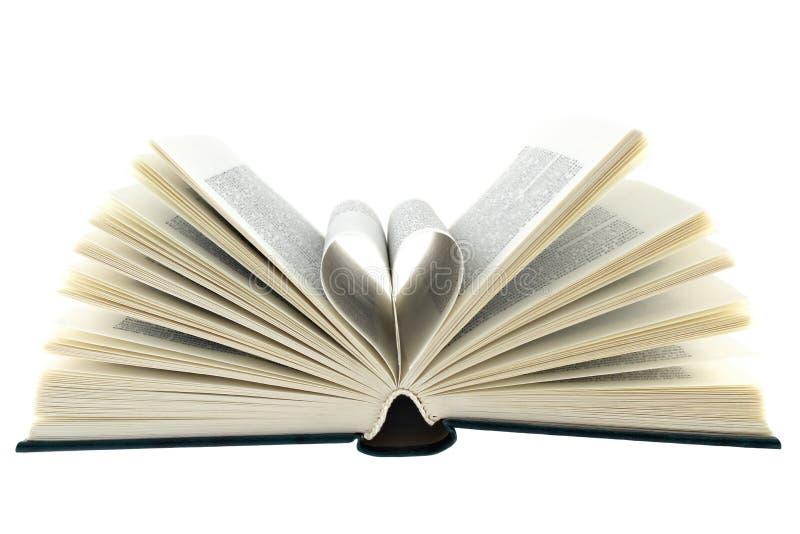 Open boek witte achtergrond stock fotografie
