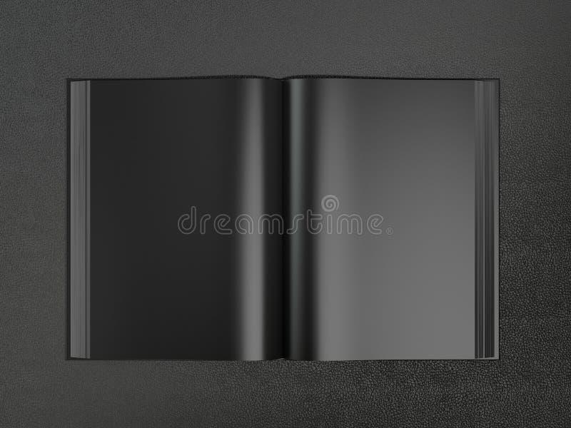 Open boek zwart model vector illustratie