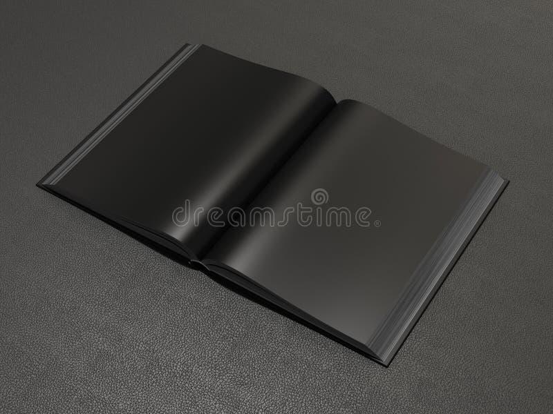 Open boek zwart model royalty-vrije illustratie