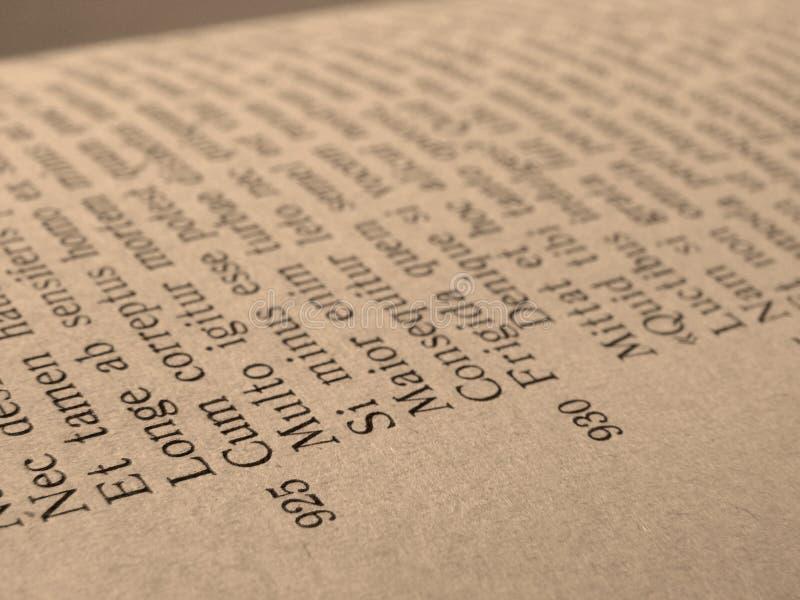 Open boekpagina royalty-vrije stock afbeelding
