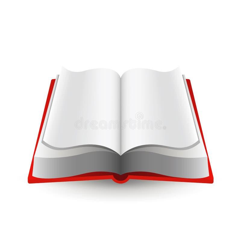 Open boekpictogram vector illustratie