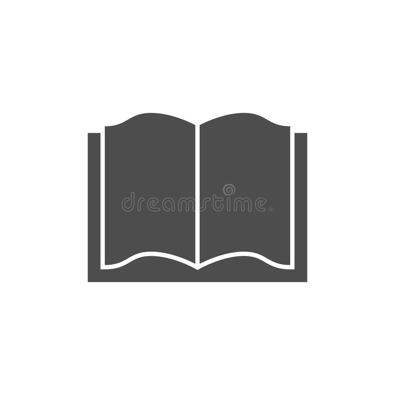 Open boekpictogram royalty-vrije illustratie