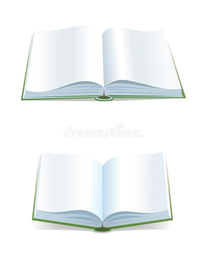 Open bokar royaltyfri illustrationer