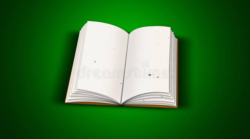 Download Open book stock illustration. Image of object, empty - 14541955