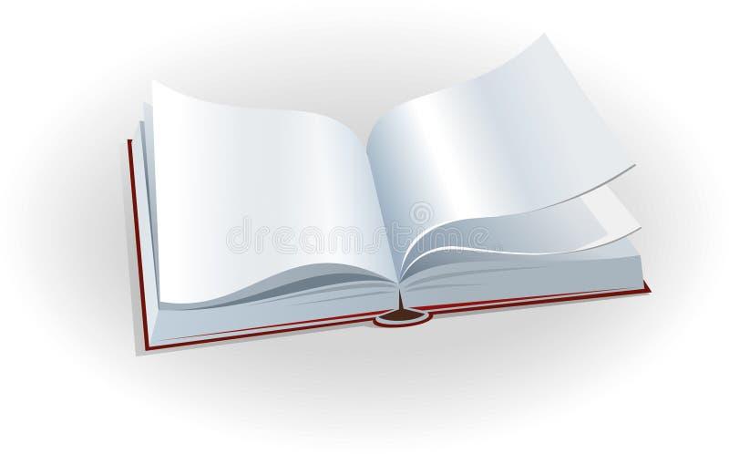Open book vector illustration