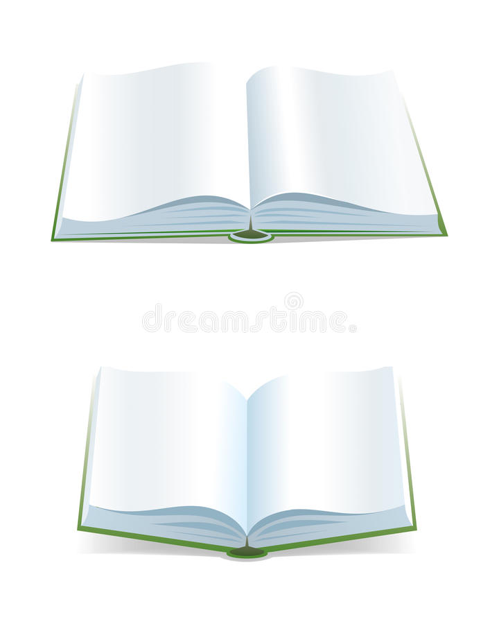 Open book royalty free illustration