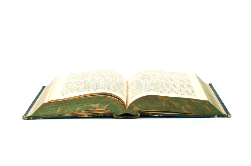 Open book. An old book royalty free stock image