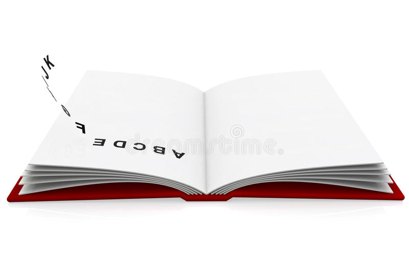 Open book with the alphabet