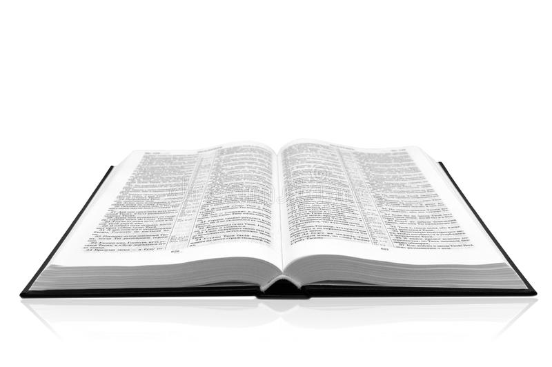 Open book bible stock photo