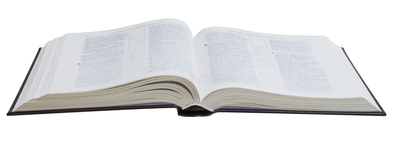 Open book, Bible, on a white isolated background_ royalty free stock photography