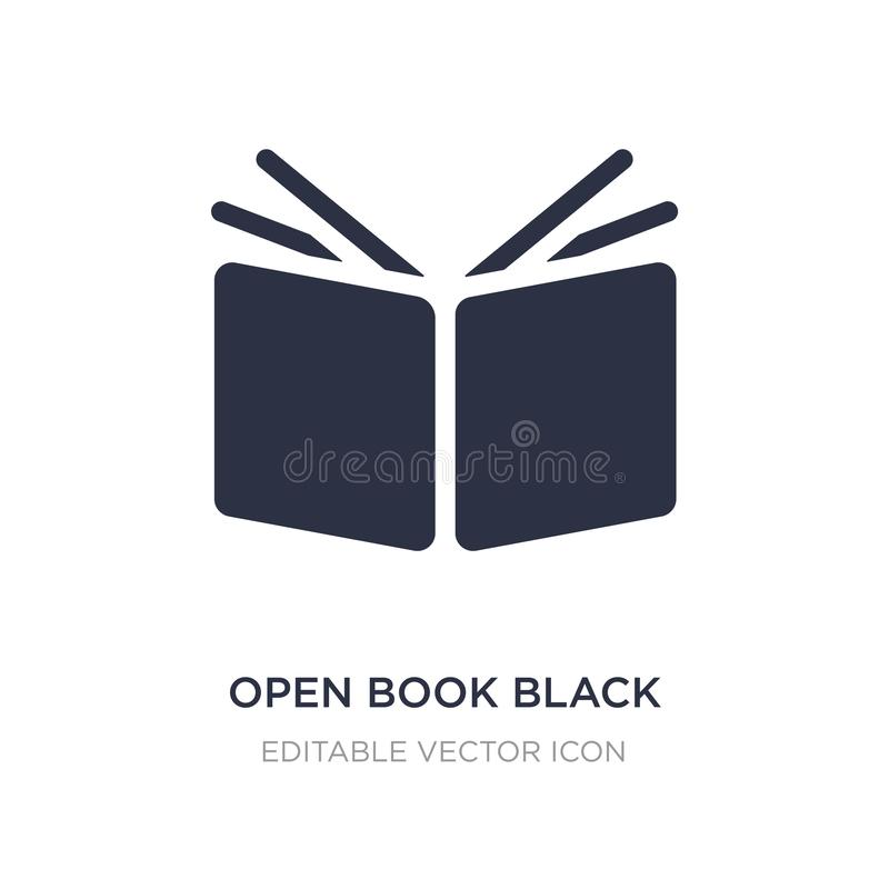 open book black cover icon on white background. Simple element illustration from Education concept royalty free illustration