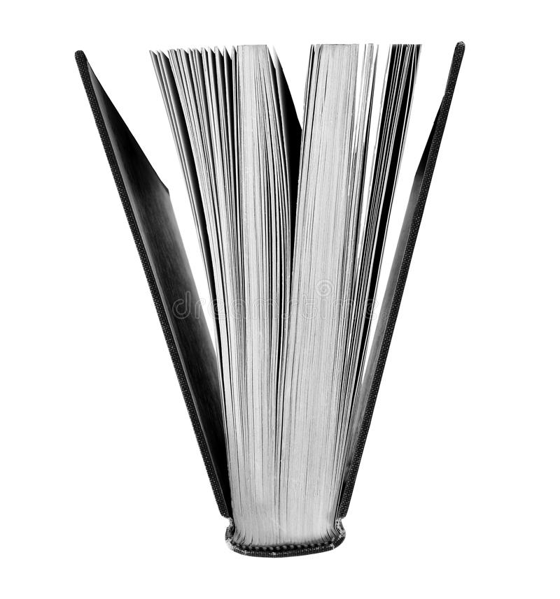 Open Book in black and white stock image
