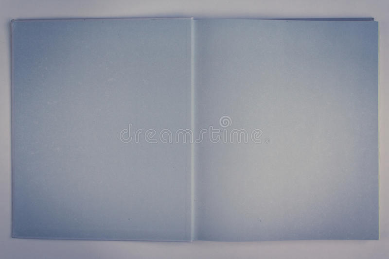 Open book with blank pages, stock photo