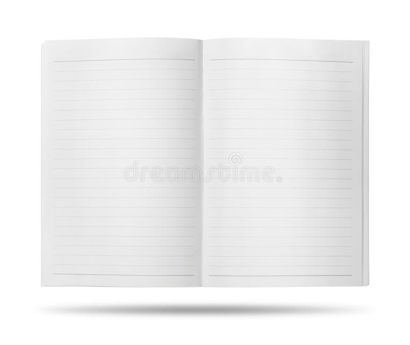 Open book with blank pages. Template of empty book isolated on white background. Clipping path royalty free stock images