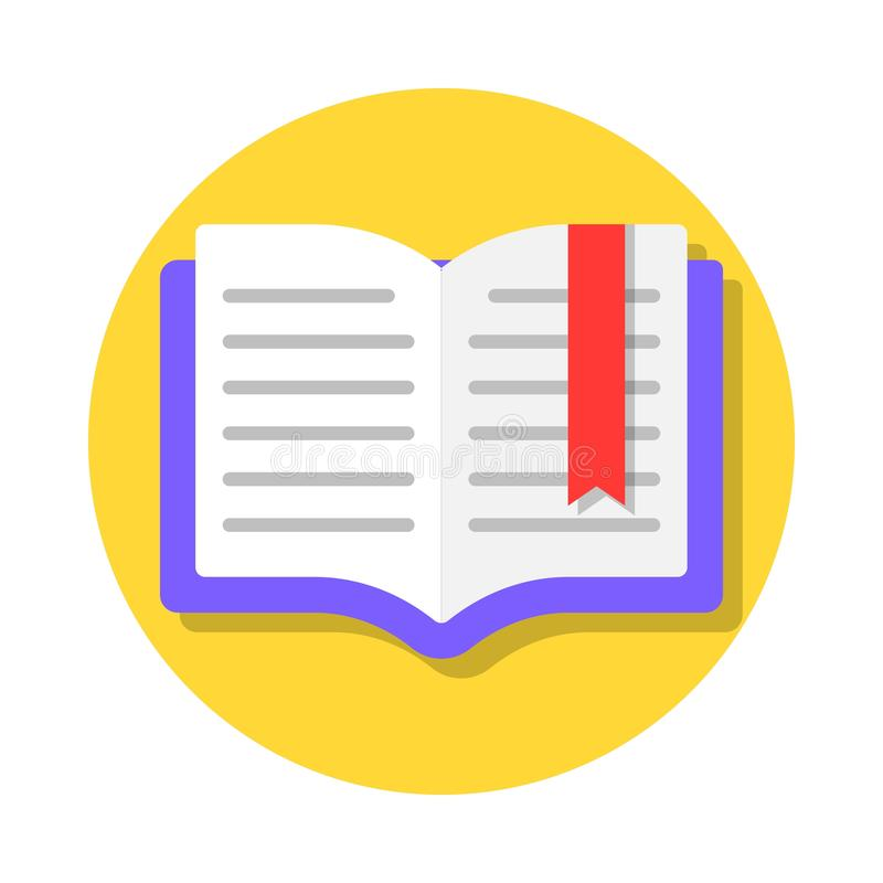 Open book with bookmark vector illustration