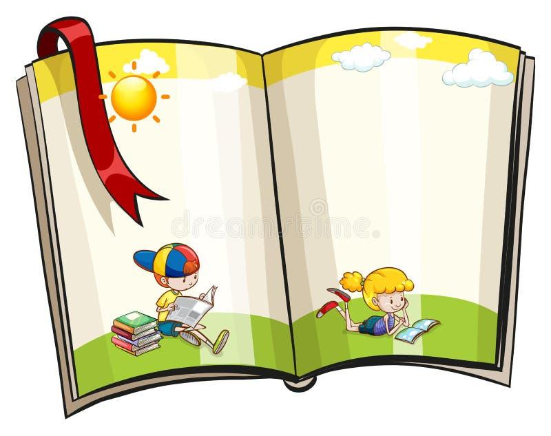 Open book stock illustration