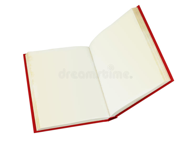 Open book with clipping path. An open book with blank pages that are slightly discolored. Easy to insert customized text into the pages. Vector path included for vector illustration
