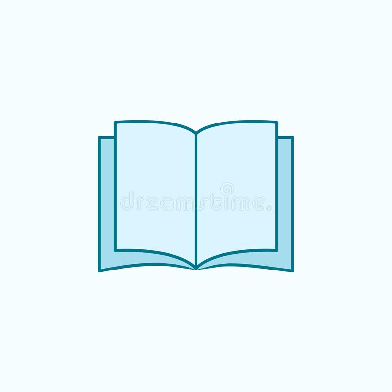 open book 2 colored line icon. Simple colored element illustration. open book outline symbol design from Scientifics study set on stock illustration