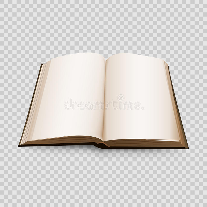 Open Book 3d isolated on transparent background. Vector illustration. royalty free illustration