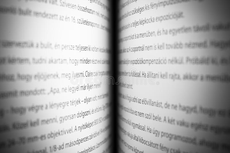 Open book Dictionary letters, close up. An open book Dictionary letters, close up royalty free stock photo