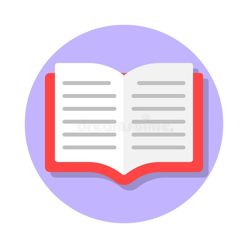 Open book flat icon vector illustration