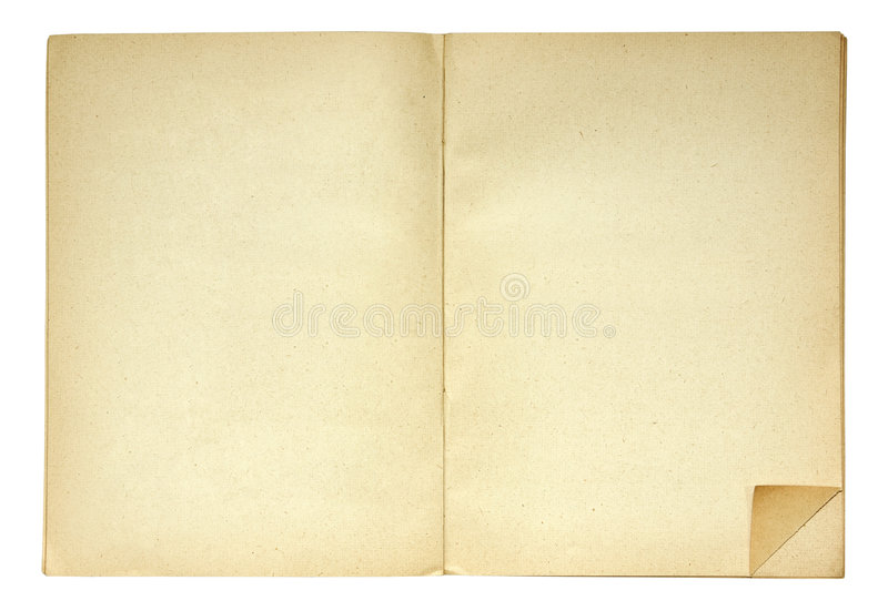 Open book with folded page corner