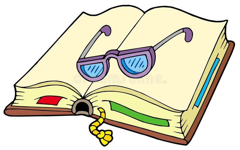 Download Open Book With Glasses Royalty Free Stock Image - Image: 12272296