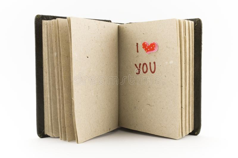 Open book - I love you royalty free stock photography