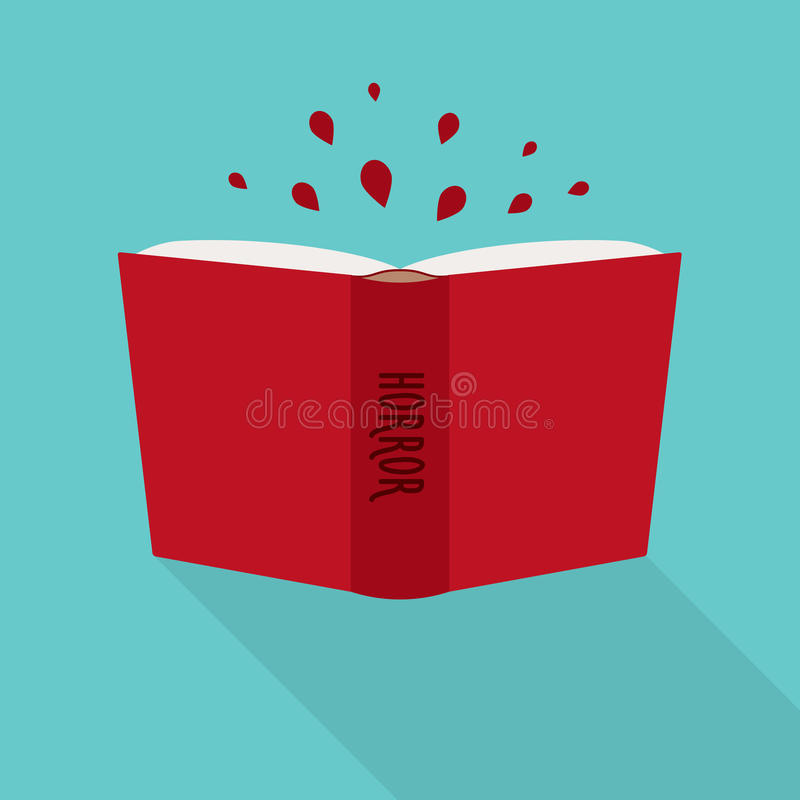 Open book icon. Concept of horror, literary fiction genre royalty free illustration