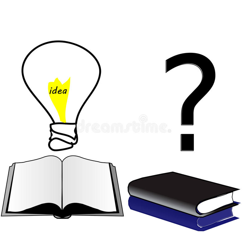 Open book idea. closed book ignorance and lack of education. Vector stock illustration