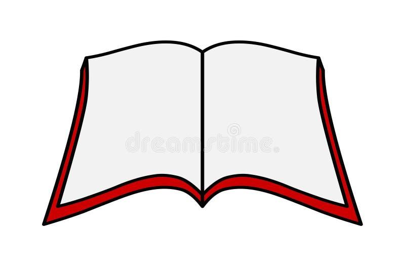 Open book illustration logo icon vector.Education concept stock illustration
