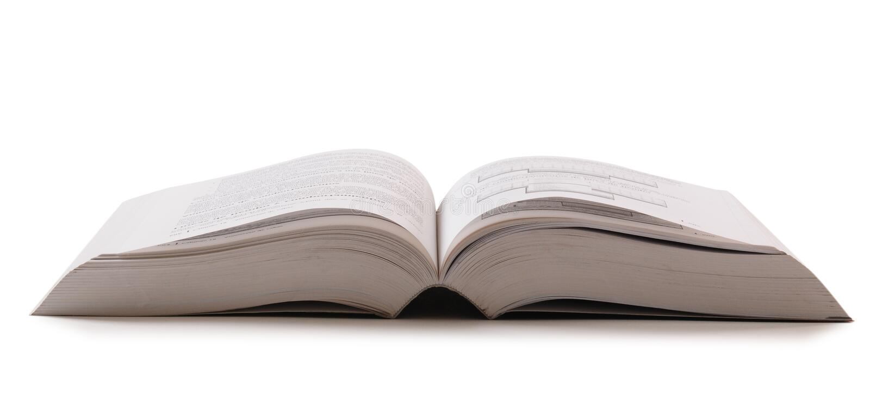 Open book. Isolated stock photos