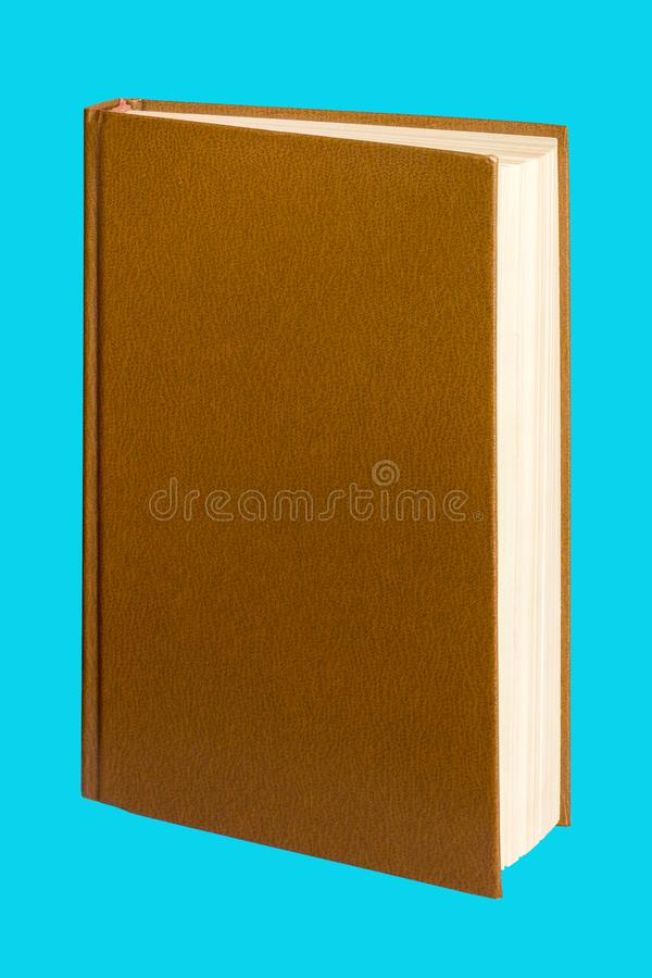 open book on an isolated blue background for design and decoration_ royalty free stock photography