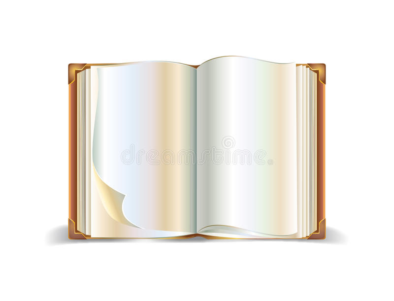 Download Open Book Isolated On White Background Stock Vector - Image: 22709045