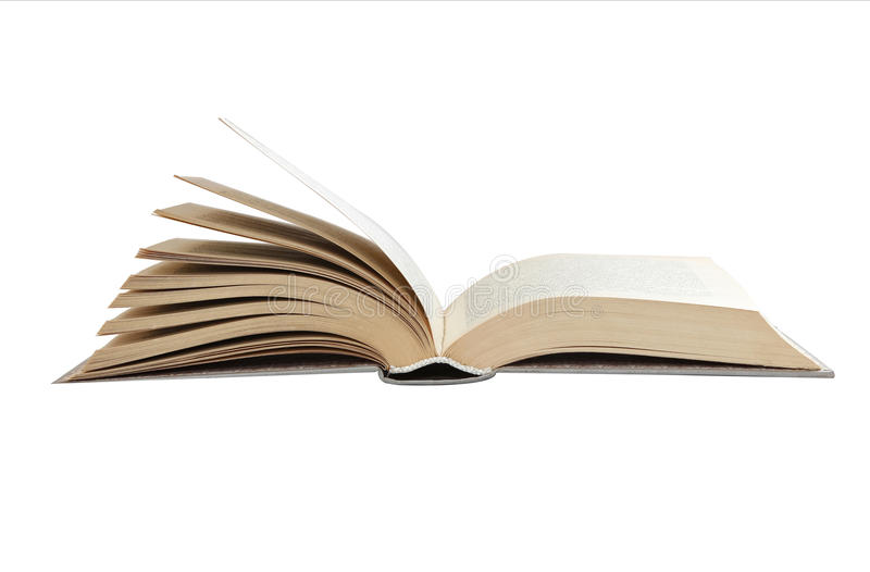Open book isolated. On a white background stock photography