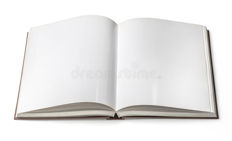 Open book isolated stock image