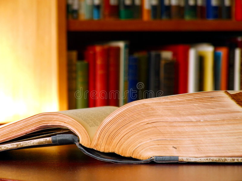 Download Open book in a library stock image. Image of literacy - 1885207