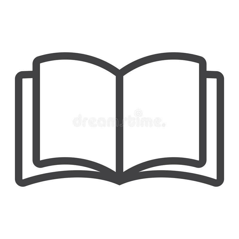 Open book line icon, web and mobile, read mode vector illustration