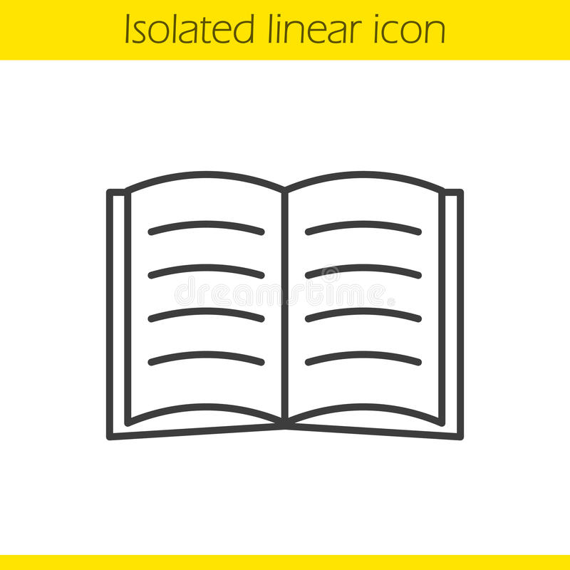 Open book linear icon royalty free illustration