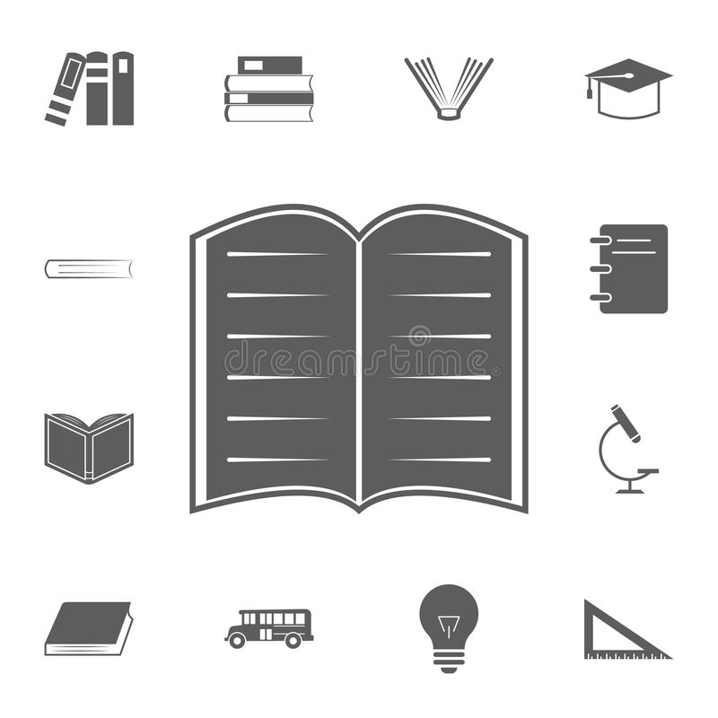 open book logo icon. Detailed set of Education icons. Premium quality graphic design sign. One of the collection icons for website stock illustration