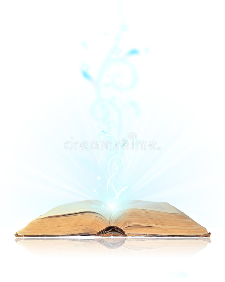 Download Open book magic stock image. Image of mystery, obsolete - 7557203