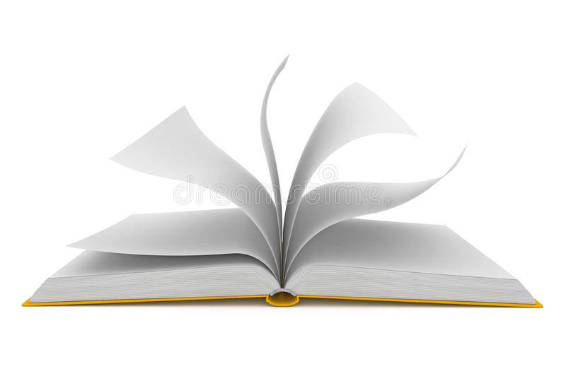 Download Open Book Over White Background Stock Images - Image: 25104214