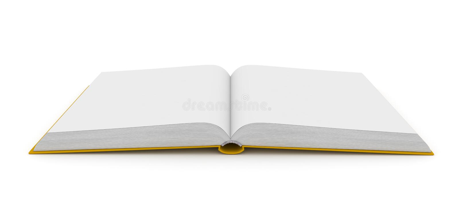 Download Open Book Over White Background Stock Illustration - Illustration: 25165302