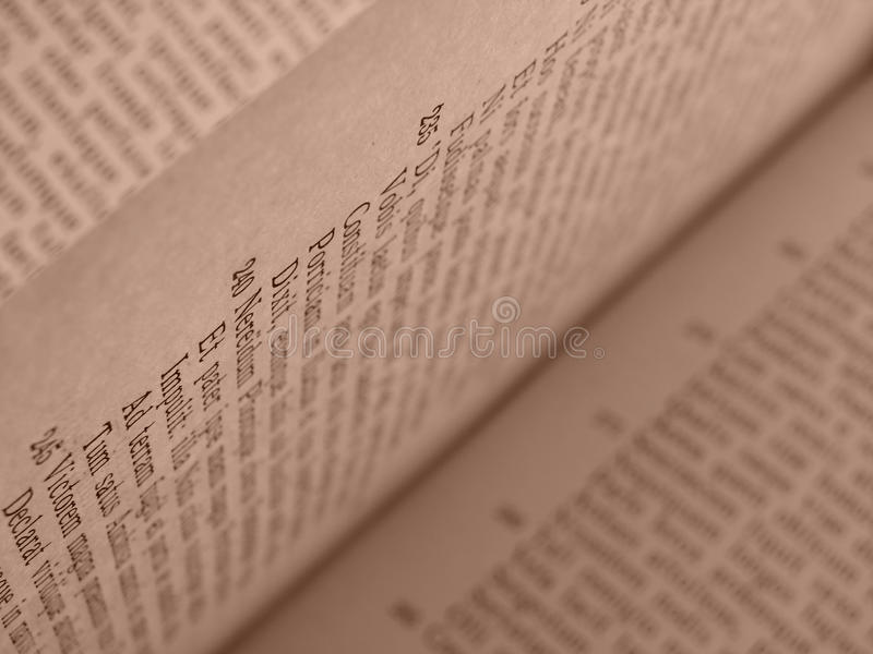 Open book pages royalty free stock photo