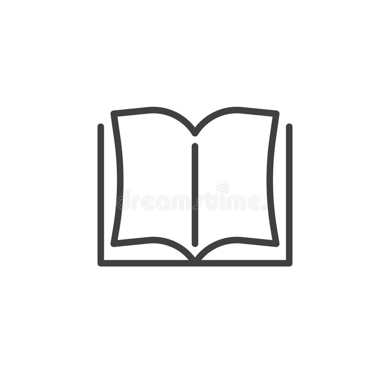Open book pages line icon royalty free illustration