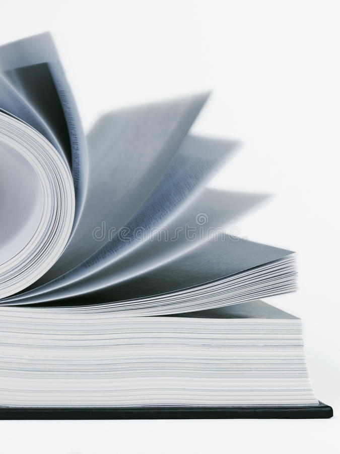 Download Open Book And Pages In Motion Stock Photo - Image: 26138180