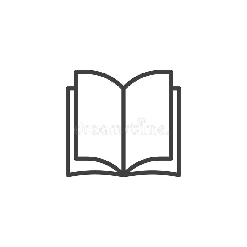 Open book pages outline icon royalty free illustration