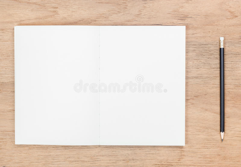 open book and pencil royalty free stock image